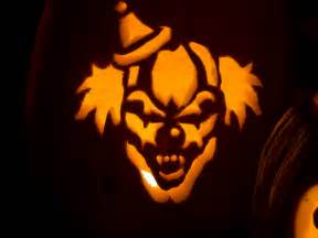 scary clown greg carved this scary clown jack o lantern