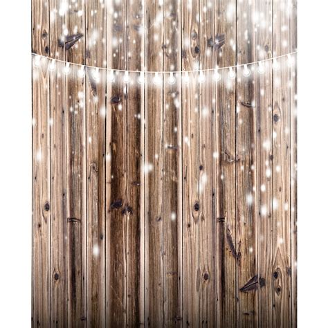 Wedding Backdrop Wood by Lights On Rustic Wood Planks Backdrop Express
