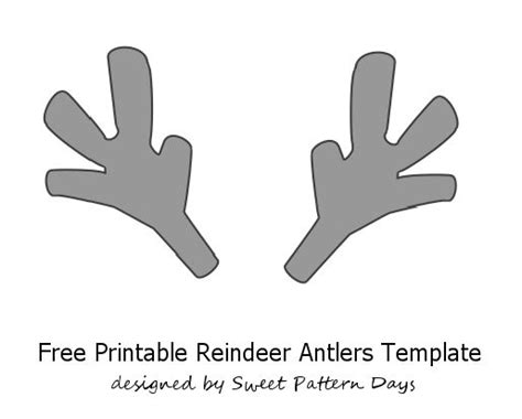 printable reindeer antlers to colour and wear printable reindeer antlers template pre school daycare
