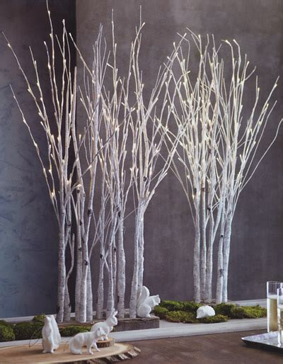 lighted birch tree forest novacom