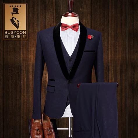 wearing a royal blue suit for wedding my wedding ideas slim fit 3 pieces elegant dark royal blue tuxedos for men