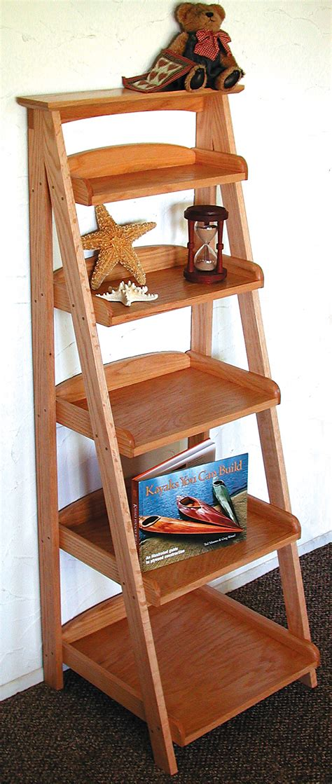 woodworking projects shelves ladder shelving plans wood projects