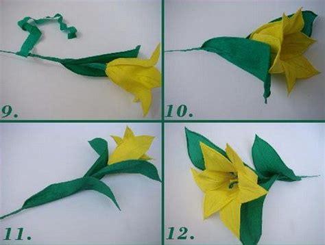 como hacer calas en papel crepe como hacer tulipanes amarillos de papel crep 233 3 papel
