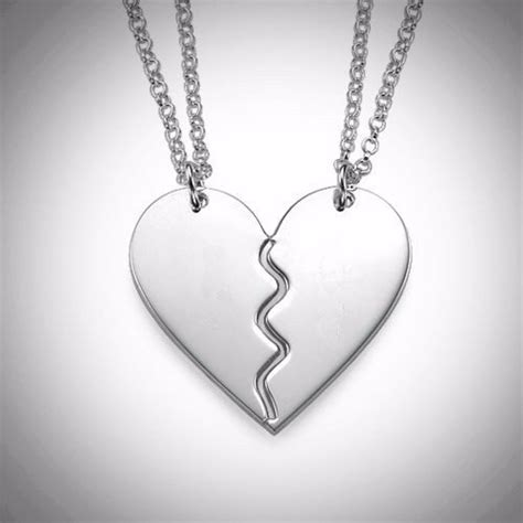 imagenes de corazones a la mitad dije de corazon de oro blanco de 18 kilates con cadenas