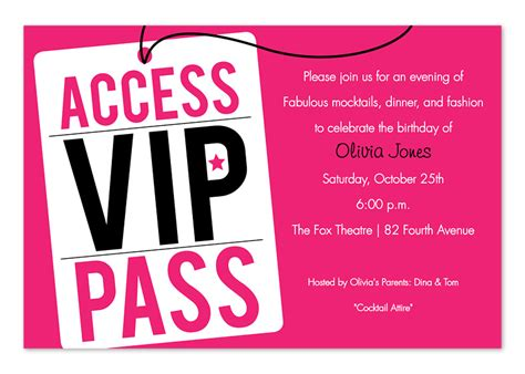 vip pass invitation template vip pass invitations custom invitations