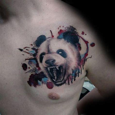 panda tattoo on chest 100 panda bear tattoo designs for men manly ink ideas