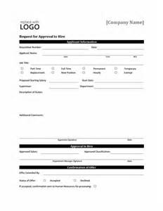approval form template request form for approval to hire office templates
