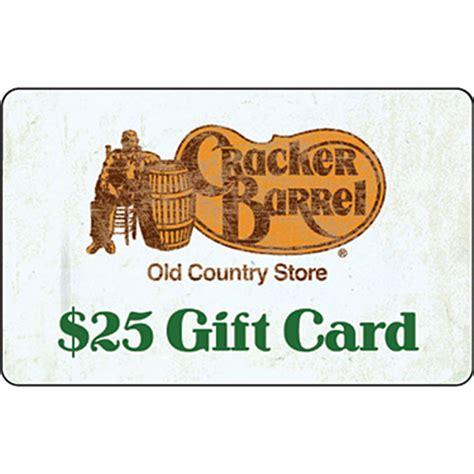 Cracker Barrell Gift Card - cracker barrel old country store gift card entertainment dining gifts food