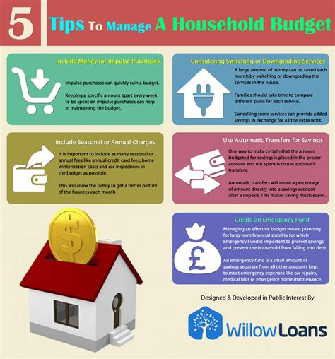 tips  manage  household budget visually