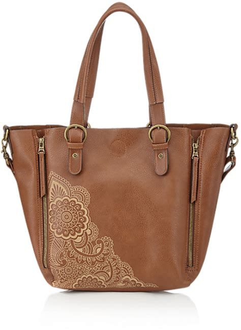 Marks Spencer Floral Print Canvas Bag by Marks And Spencer Indigo Collection Faux Leather Etched