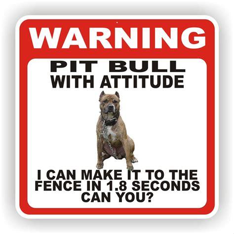 pit bull dog warning sign fence 12 x 12 poly sty ebay