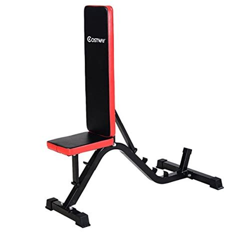 ab incline bench goplus adjustable sit up ab incline abs bench flat fly weight press gym red