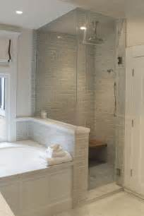 glass enclosed shower glass enclosed steam shower with pony wall to separate the