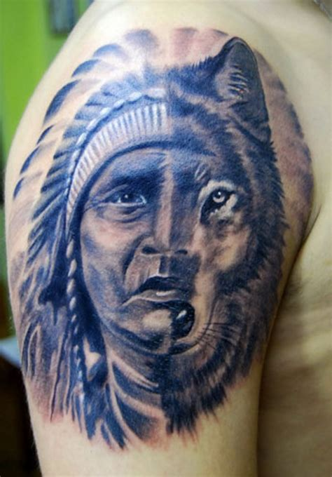 indian wolf tattoo 65 fantastic american shoulder tattoos