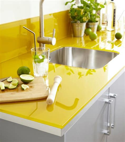 Yellow Kitchen Countertops kitchen remodeling ideas bright yellow kitchen granite