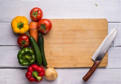cooking board cutting board with food photo free download