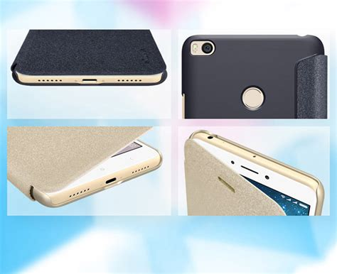 Nillkin Sparkle Leather Xiaomi Max 2 Mi Max 2 Gold black nillkin sparkle xiaomi mi max 2 leather