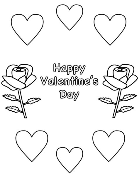 coloring pages roses hearts kids coloring
