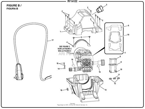 washer diagram homelite ry14122 pressure washer parts diagram for figure b