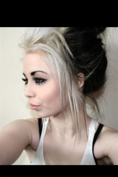 hairstyles blonde in front black in the back best 25 black and blonde ideas on pinterest two blondes