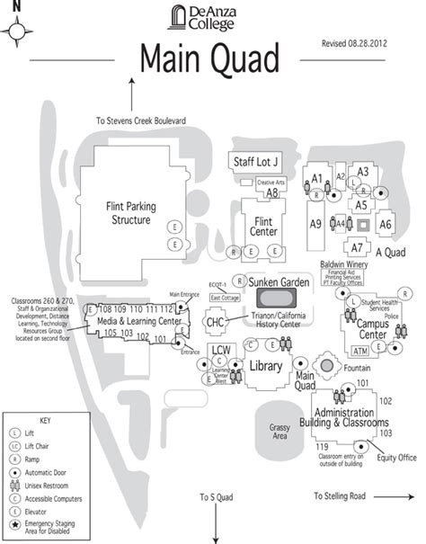 de anza map de anza college cus map
