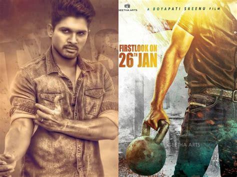 allu arjun new images 2016 numerology behind allu arjun boyapati sarrainodu filmibeat
