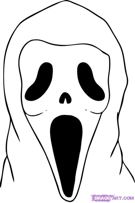 ghost face coloring page ghost face mask coloring pages