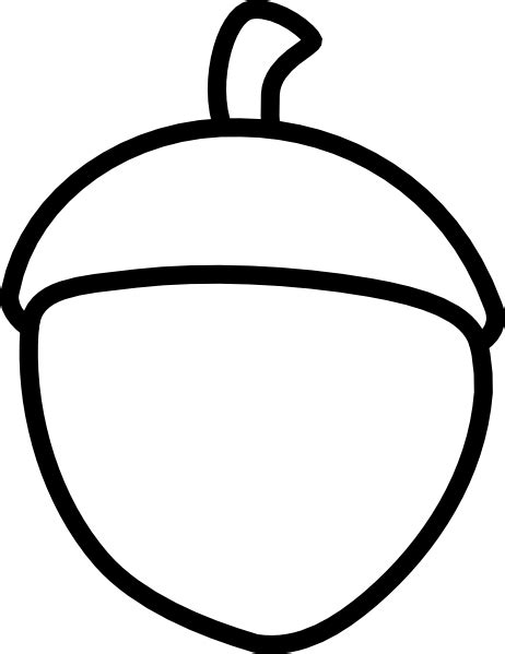 Acorn Drawing Outline by Acorn Clip At Clker Vector Clip Royalty Free Domain