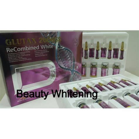 Glutax 2000gs glutax 2000gs recombined white whitening whitening