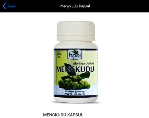 Mengkudu Kapsul Hpai Obat Tekanan Darah Tinggi Herbal kapsul herbal mengkudu hpai toko herbal di surabaya