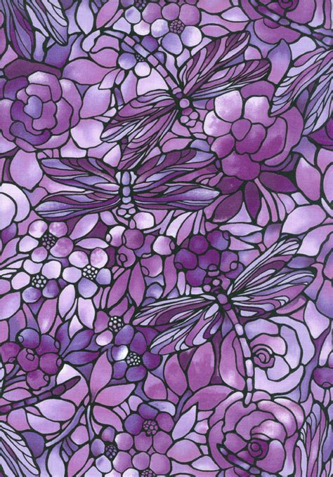 purple stained glass dragonfly designed craft