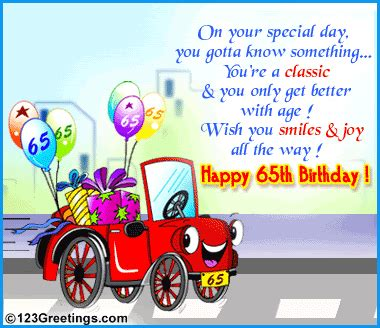65 Birthday Card Messages Birthday Cards 65th Birthday Cards Happy 65th Birthday