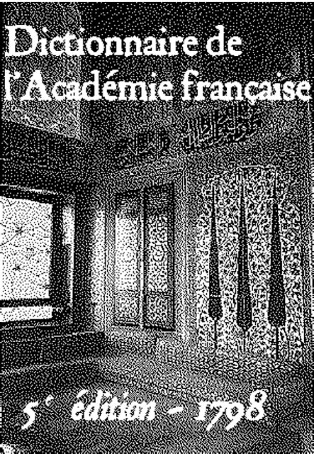 Dictionnaire de L'Académie française - 5ème édition pdf