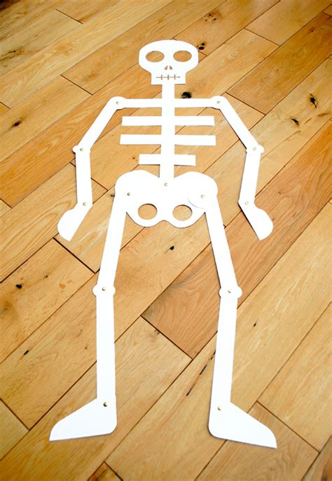 Make Your Own Paper Skeleton - the crafty cut out and keep skeleton minieco