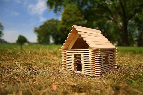 Popsicle Stick Cabin by Diy Family Project Use Popsicle Sticks To Build Your