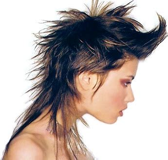 Shoulder Length Spiky Punk Hair Ladies Hair Styles | medium layered spiky hair style brown punk hair style