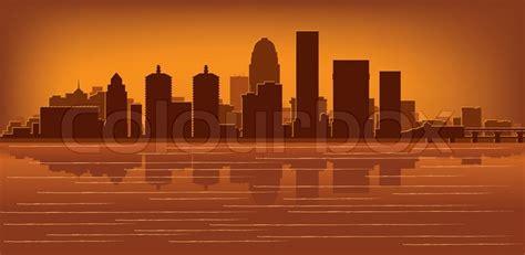 Louisville Ky Skyline Outline by Louisville Kentucky Skyline Stock Vector Colourbox