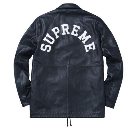 supreme jacket supreme x chion leather coaches jacket freshness mag