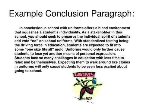 Write Conclusion Essay Exles by Ppt How To Write A Concluding Paragraph Powerpoint Presentation Id 245978