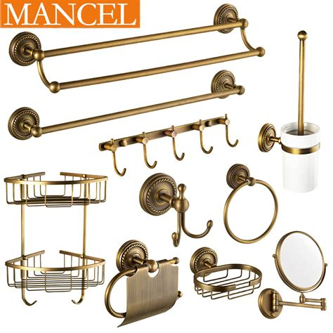 vintage bathroom hardware mancel bath hardware sets antique brass towel rack shelf