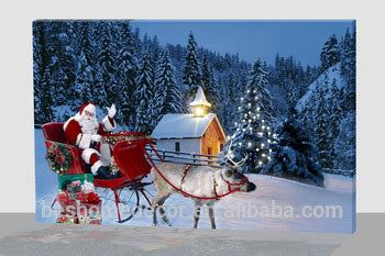 best price large lighted christmas canvas santa claus