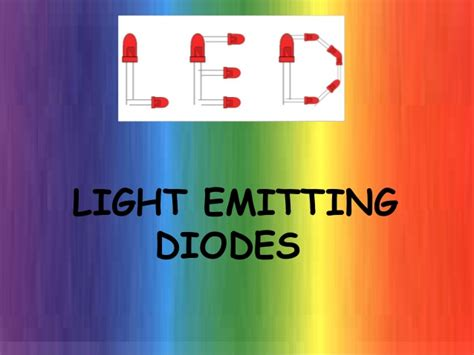 light emitting diode slideshare light emitting diode led
