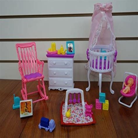 barbie size doll houses barbie size dollhouse furniture gloria baby home nursery set new gift ebay