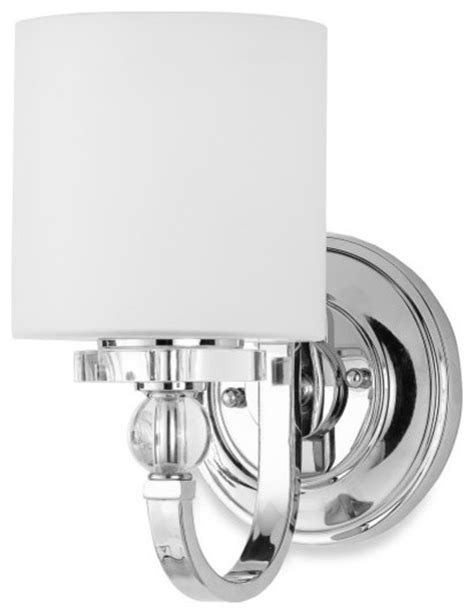 Quoizel Downtown Wall Sconce Quoizel Downtown Wall Sconce With 1 Light Contemporary Bathroom Vanity Lighting By Bed