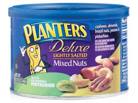 Planters Mixed Nuts Calories by Planters Deluxe Lightly Salted Mixed Nuts Hy Vee Aisles
