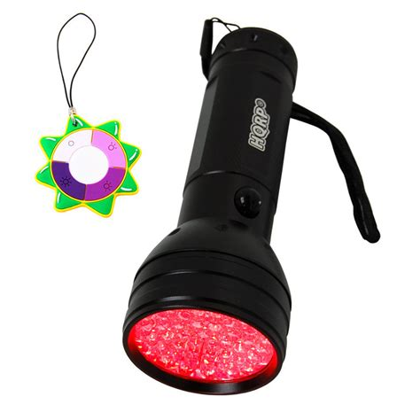 hqrp red light 51 led flashlight torch for astronomy