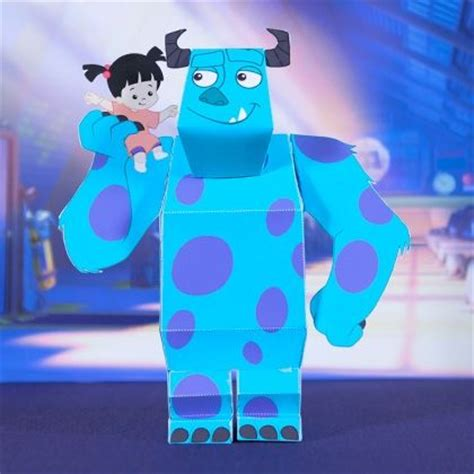 Disney 3d Papercraft - sulley and boo 3d papercraft disney monsters inc and