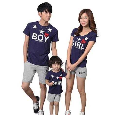 Kaos Pasangan Boy dapat 3pcs baju keluarga murah kaos family