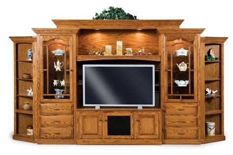 wall tv cabinet entertainment centers amish hoosier tv entertainment center wall unit solid oak