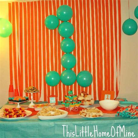 1st birthday party decorations at home for a makichicom best decoring 1st birthday party simple